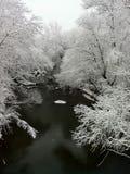 zatoczki sceny śniegu zima Fotografia Royalty Free