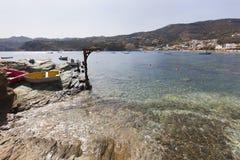 Zatoka Agia Pelagia na Crete Fotografia Royalty Free