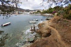 Zatoka Agia Pelagia na Crete Obrazy Stock