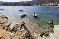 Zatoka Agia Pelagia na Crete Zdjęcie Stock