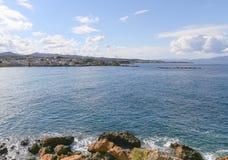 Zatoka Agioi Apostoloi w Crete Zdjęcie Royalty Free