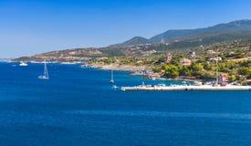 Zatoka Agios Nikolaos Zakynthos wyspa Obraz Stock