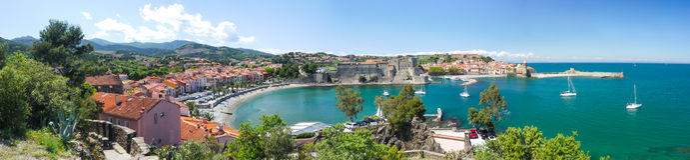 Zatoka Collioure obrazy royalty free