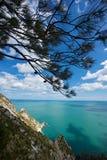 zatoka dzwonił conero góry siostry dwa zdjęcia royalty free