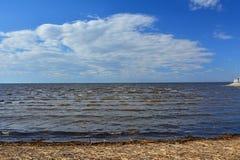 Zatoka Finlandia w Peterhof, St Petersburg, Rosja Fotografia Royalty Free