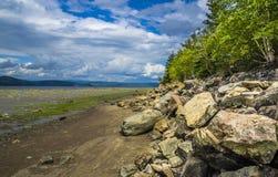 Zatoka fjord Fotografia Stock