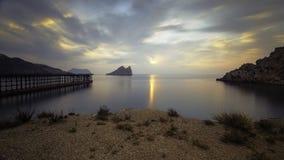 Zatoka Hornillo przy Aguilas, Murcia na Costa Calida Zdjęcia Royalty Free