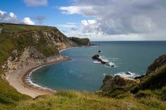 Zatoka i falezy przy Durdle Drzwi Dorset Fotografia Royalty Free