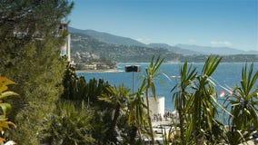 Zatoka i linia brzegowa Monaco, Cote D'Azur Francja zbiory wideo