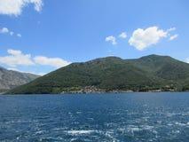Zatoka Kotor góra Zdjęcie Stock