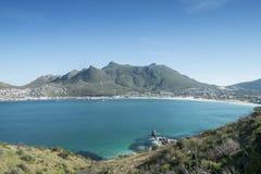 Zatoka miasto morzem w przylądka miasteczku Zdjęcie Royalty Free