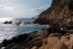 Zatoka Porto, Corsica zdjęcia stock