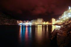 Zatoka przy nocą Zdjęcie Stock