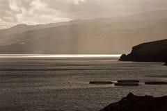 Zatoka przy zmierzchem Zdjęcie Royalty Free