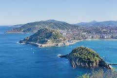 Zatoka San Sebastian, Gipuzkoa, Baskijski kraj, Hiszpania Zdjęcia Stock