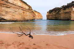 Zatoka wzdłuż Wielkiej ocean drogi, Australia Zdjęcia Stock