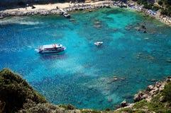 Zatoka z statkami rybacy Zdjęcia Royalty Free