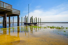 Zatoki wybrzeża molo fotografia royalty free