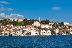 Zaton är en liten historisk stad i Kroatien Fotografering för Bildbyråer