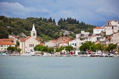 Zaton, Croatia view from the sea Royalty Free Stock Photos