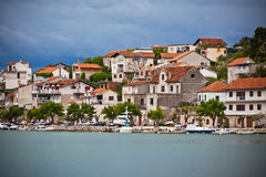 Zaton, Croatia view from the sea Royalty Free Stock Images