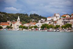 Zaton, Croatia view from the sea Stock Images
