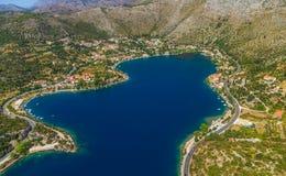 Zaton-Lagune nahe Dubrovnik lizenzfreies stockfoto
