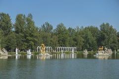 Zatorland Polen, themapark Royalty-vrije Stock Foto's