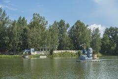 Zatorland Polen, themapark Stock Foto
