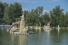 Zatorland Polen, themapark Royalty-vrije Stock Fotografie