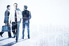 Zatrudnienia, pracy zespołowej i bankowości pojęcie, Obrazy Stock