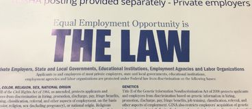 Zatrudnienie Równy Oppurtunity jest prawa plakatem zdjęcie royalty free