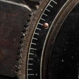 Zatrzaskiwanie mechanizm dla gearwheel, makro- zdjęcie stock