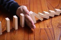 Zatrzymuje domino skutek Obrazy Stock