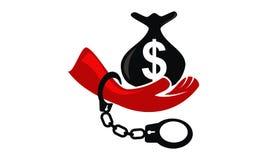Zatrzymuje korupcja loga projekta szablon ilustracji