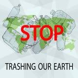 Zatrzymuje niszczyć nasz ziemię ilustracji