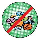 Zatrzymuje podawać doping szyldową ikonę ilustracja wektor
