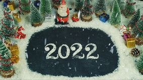 Zatrzymuje ruch animację 2022 literowanie Zdjęcie Stock