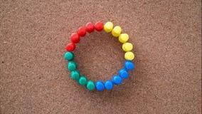 Zatrzymuje ruch animacji materiału filmowego wideo przerobowa komputerowa sandglass ikona robić czerwieni zieleni błękitnymi