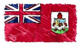 Zatrzymuje ruchu Bermuda flagi kreskówki animacji tła nowej ilości symbolu markier rysującego krajowego patriotycznego kolorowego ilustracja wektor