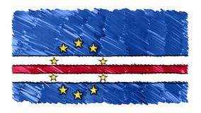 Zatrzymuje ruchu przylądka VERDE flagi kreskówki animacji tła nowej ilości markier rysującego krajowego patriotycznego kolorowego royalty ilustracja