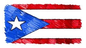Zatrzymuje ruchu Puerto Rico flagi kreskówki animacji tła nowej ilości markier rysującego krajowego patriotycznego kolorowego sym ilustracja wektor