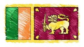 Zatrzymuje ruchu Sri lanki flagi kreskówki animacji tła nowej ilości markier rysującego krajowego patriotycznego kolorowego symbo royalty ilustracja
