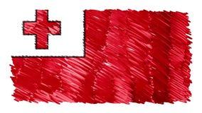 Zatrzymuje ruchu Tonga flagi kreskówki animacji tła nowej ilości symbolu markier rysującego krajowego patriotycznego kolorowego w royalty ilustracja