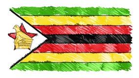 Zatrzymuje ruchu Zimbabwe flagi kreskówki animacji tła nowej ilości symbolu markier rysującego krajowego patriotycznego koloroweg ilustracji