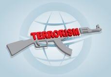 Zatrzymuje terroryzmu znaka Zdjęcia Royalty Free