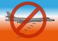 Zatrzymuje wojenną plakatową pacyfistyczną propagandę ilustracja wektor