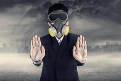 Zatrzymuje zanieczyszczenia pojęcie Fotografia Stock