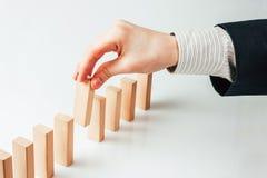 Zatrzymywać domino skutek Obrazy Stock