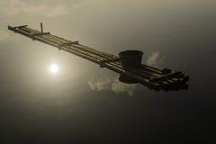 Zattera del bambù di pesca Fotografia Stock Libera da Diritti